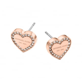 Rose Gold Heritage Heart Studs