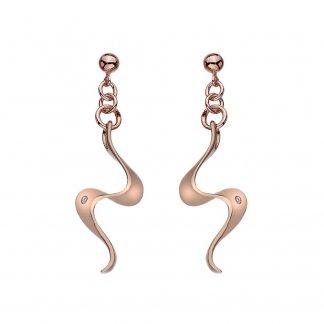 Rose Gold Plated Pirouette Earrings DE392