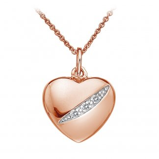 Shooting Stars Rose Gold Heart Pendant DP502