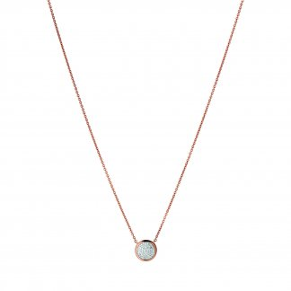 Rose Gold Pave Diamond Essentials Necklace 5020.2726