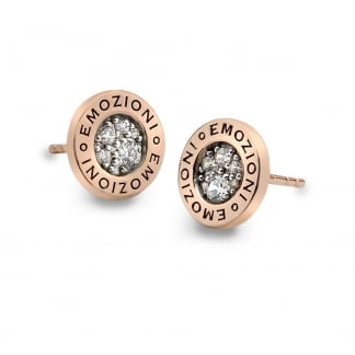 Rose Gold Logo Pianeta Earrings