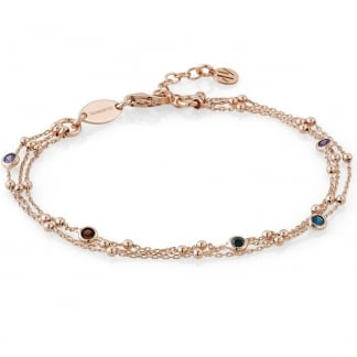 Rose Gold & Multicolour Cubic Zirconia Bella Bracelet