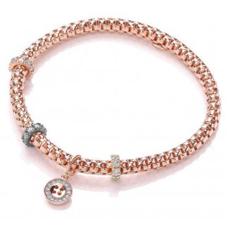 Rose Gold Plated Jewelled Joie Bracelet BBT019