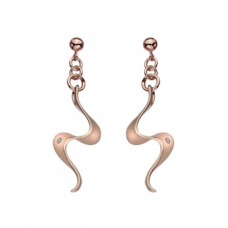 Rose Gold Plated Pirouette Earrings