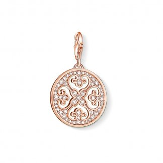 Rose Gold Plated Ornament Charm 0994-416-14