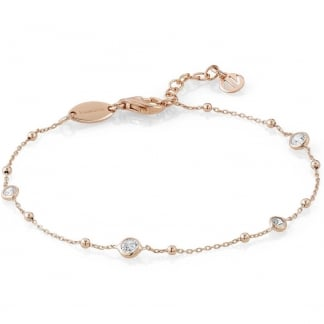 Rose Gold Stone Set Bella Bracelet