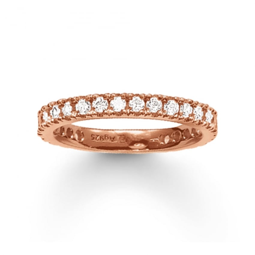 Thomas Sabo Rose Gold Thick Eternity Ring TR1981-416-14