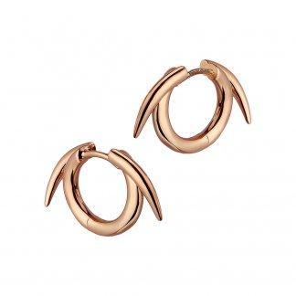 Rose Gold Vermeil Thorned Hoop Earrings SLS543