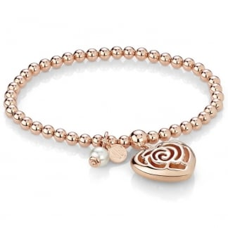 Roseblush Expandable Heart Bracelet
