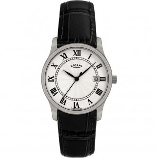 Gent's Classic Leather Strap Quartz Watch