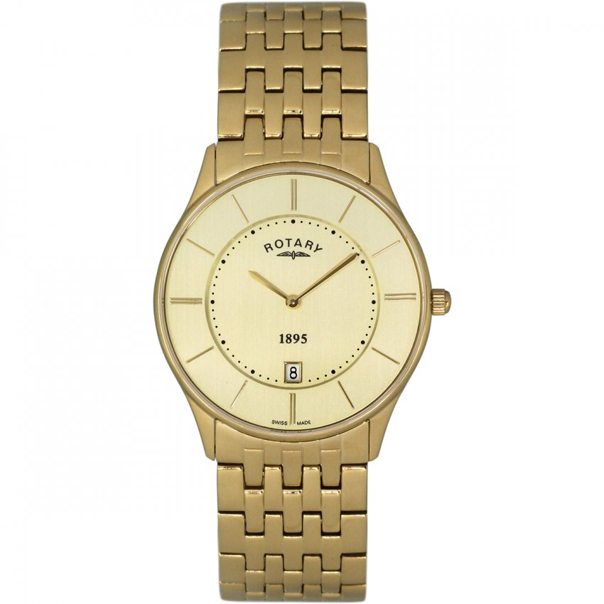 Rotary Gent's Gold Plated Ultra Slim Watch GB08203/03