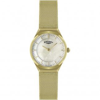 Ladies Classic MOP Dial Mesh Bracelet Watch LB02613/40