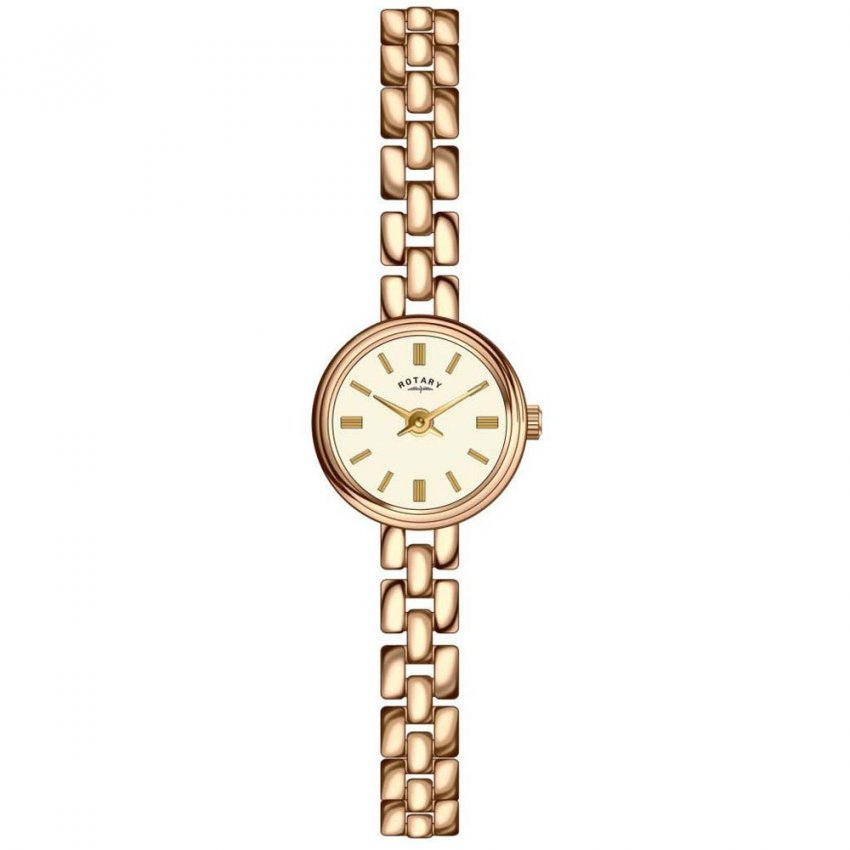 Rotary Ladies Gold Tone Stainless Steel Watch LB02543/03