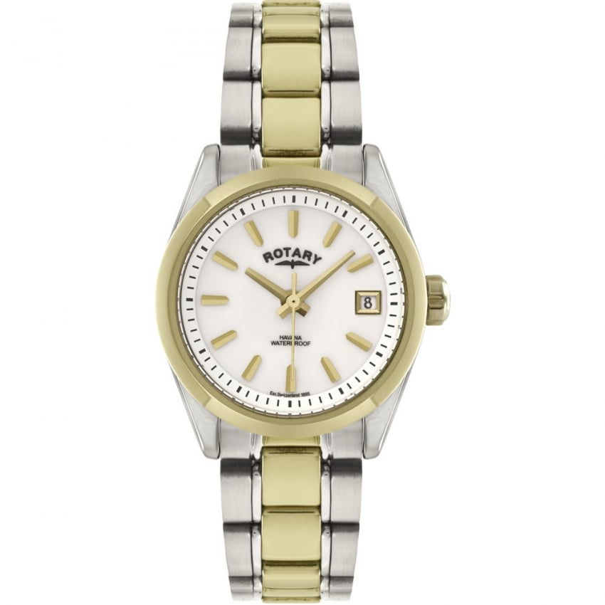 Rotary Ladies Havana Two Tone Bracelet Watch LB02661/11