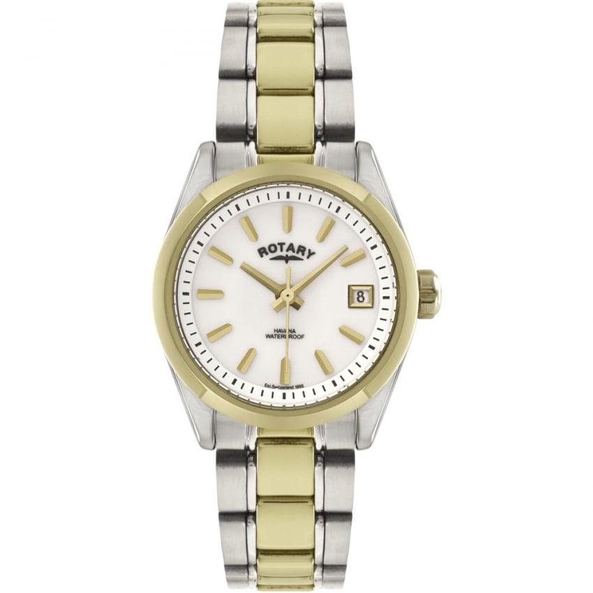 Rotary Ladies Havana Two Tone Bracelet Watch LB02661/11