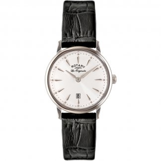 Ladies Les Originales Black Leather Kensington Watch LS90050/02