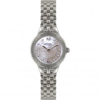 Ladies Mother of Pearl Dial Stone Set Watch LB02760/07