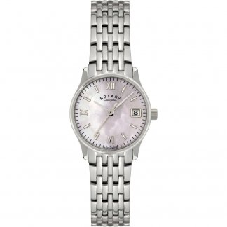 Ladies Pink Mother of Pearl Dial All Steel Watch