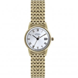 Ladies Rose Gold Bracelet Watch With Roman Numerals LB02754/21