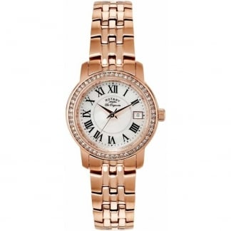 Ladies Rose Gold Plated Stone Set Watch LB90093/41