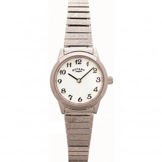 Ladies Silver Tone Expander Bracelet Watch LBI0761