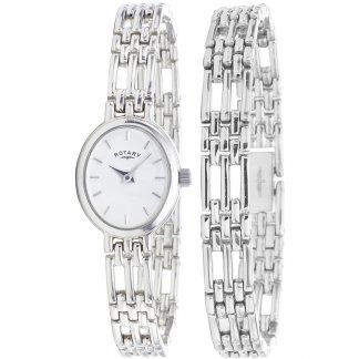Ladies Sterling Silver Watch & Bracelet Set LBI20061/BR/02