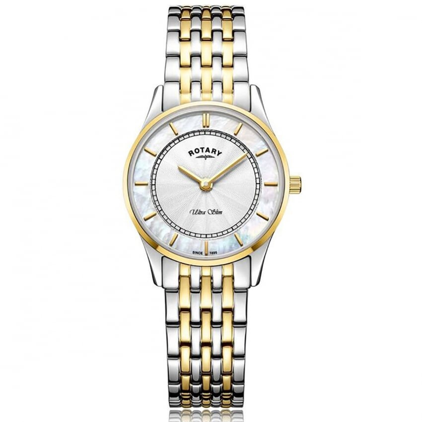 Ladies Ultra Slim Two Step Two-Tone Bracelet Watch LB08301/41