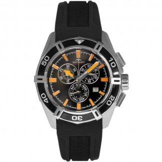 Men's Aquaspeed Pacific Black Rubber Chronograph Watch