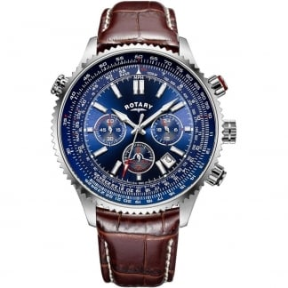 Men's Aviation Blue Dial Chronograph Watch GS00699/05