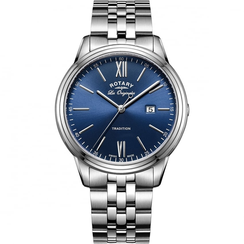 Rotary Men's Blue Dial Steel Tradition Watch GB90194/05