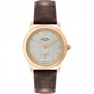 Men's Cambridge Brown Leather Strap Watch GS02702/01