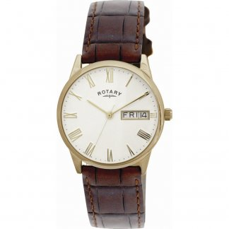 Men's Champagne Dial Dress Watch with Day/Date