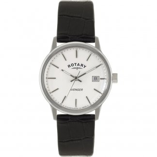 Men's Classic Avenger Black Leather Strap Watch GS02874/06