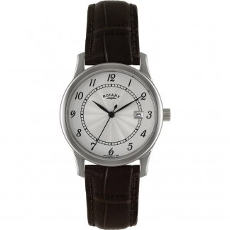 Men's Classic Brown Leather Strap Watch GS00792/22