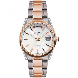 Men's Functional Two Tone Havana Watch