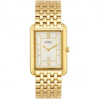 Men's Gold Plated Tank-Shaped Quartz Watch GB02690/03