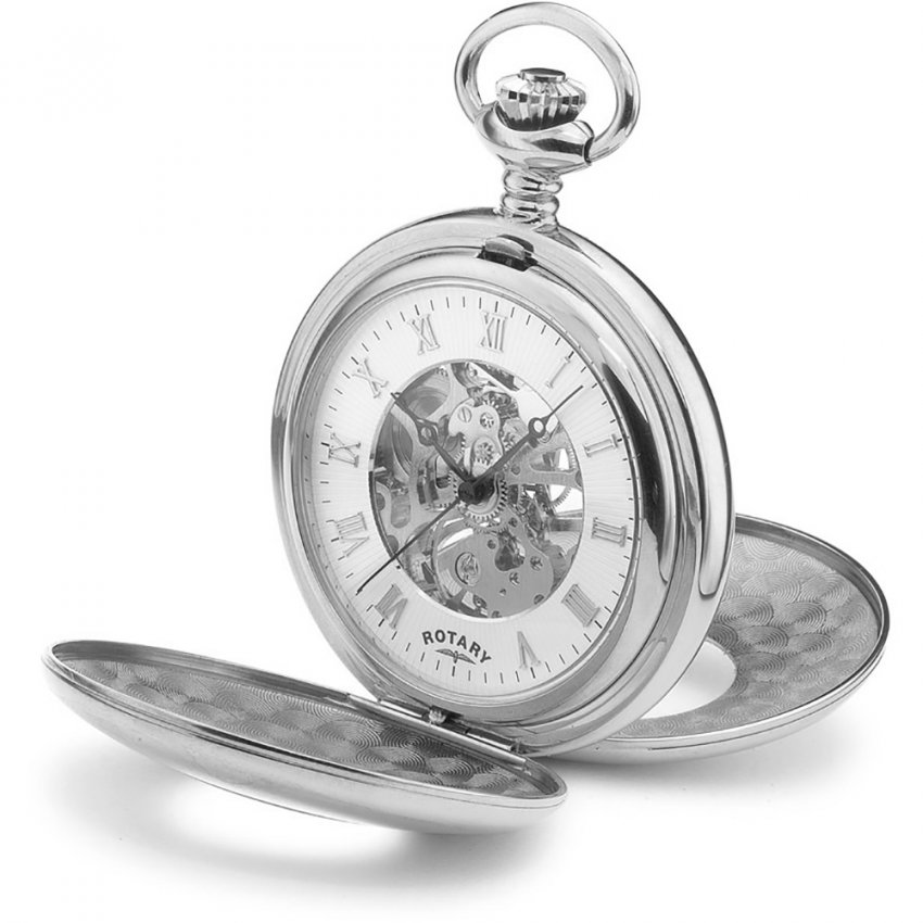 Rotary Men's Half Hunter Mechanical Pocket Watch MP00712/01
