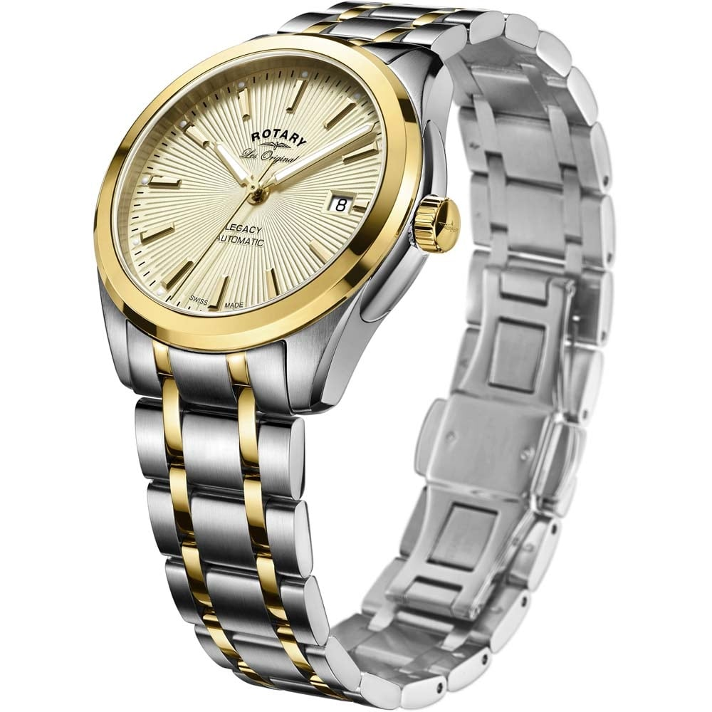 rotary men s legacy two tone swiss automatic watch watches from men 039 s legacy two tone swiss automatic watch