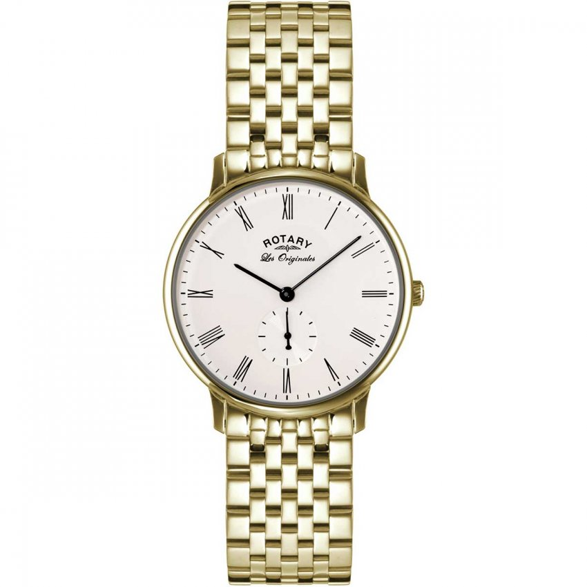 Rotary Men's Les Originales Gold Plated Kensington Watch GB90052/01