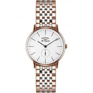 Men's Les Originales Steel & Rose Kensington Watch GB90057/06