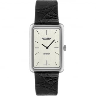 Men's London Black Leather Dress Watch