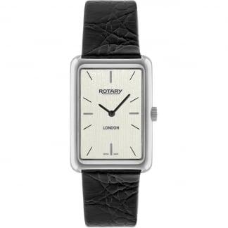 Men's London Black Leather Dress Watch GS90989/32