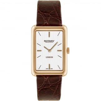 Men's London Rose Gold Brown Leather Dress Watch GS90991/02