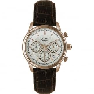 Men's Monaco Rose Gold Chronograph Strap Watch GS02879/06