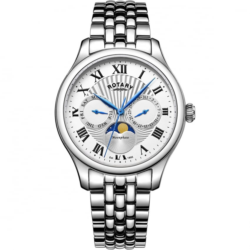 Rotary Men's Moonphase Stainless Steel Watch GB05065/01