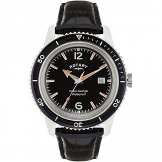 Men's Ocean Avenger Black Leather Watch GS02694/04