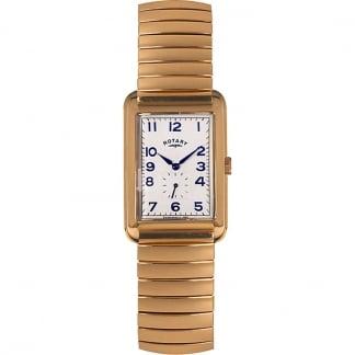 Men's Rectangular Gold Tone Expander Watch GBI00521/06