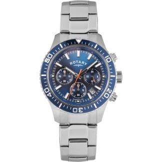 Men's Stainless Steel Blue Dial Chronograph Watch GB00358/05