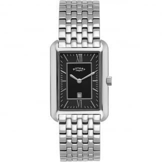 Men's Tank-Shaped Black Dial Quartz Watch GB02685/04