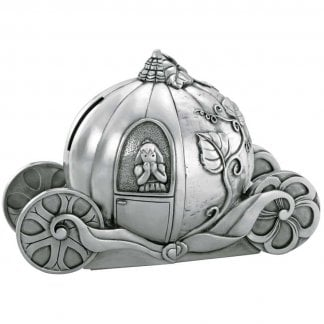 Cinderella Coin Box Pewter Bookends